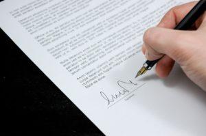 umowa darowizny podpis